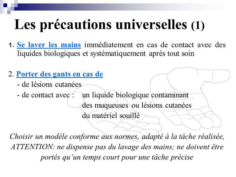 Les précautions universelles (1)