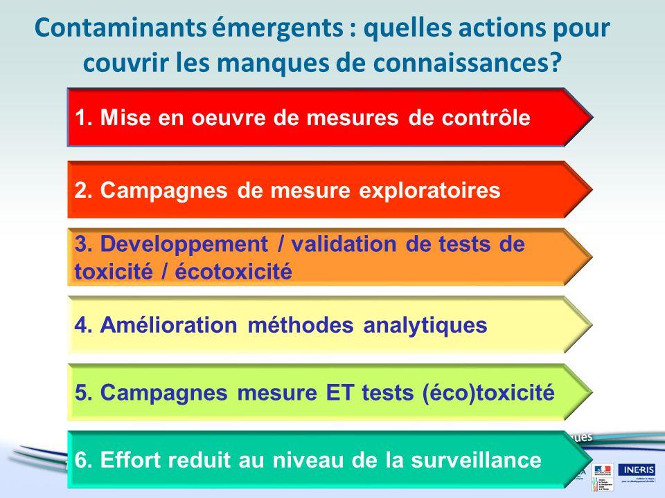Contaminants émergents : quelles actions pour couvrir les manques de connaissances