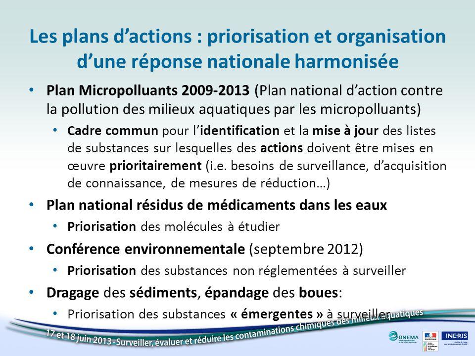 Les plans d'actions : priorisation et organisation d'une réponse nationale harmonisée