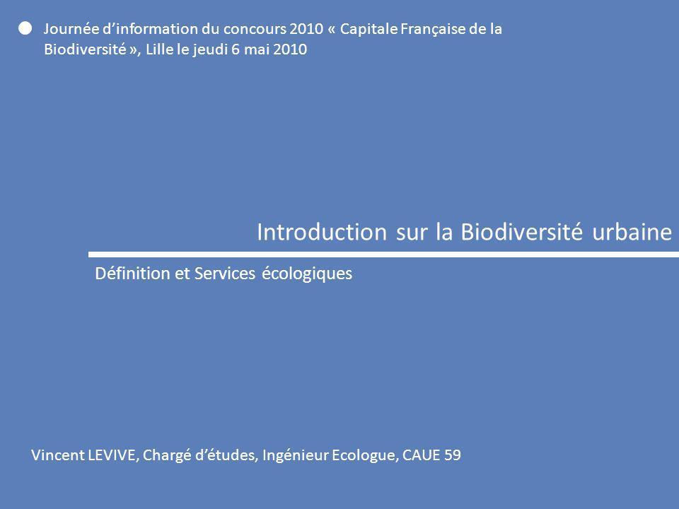 Introduction sur la Biodiversité urbaine