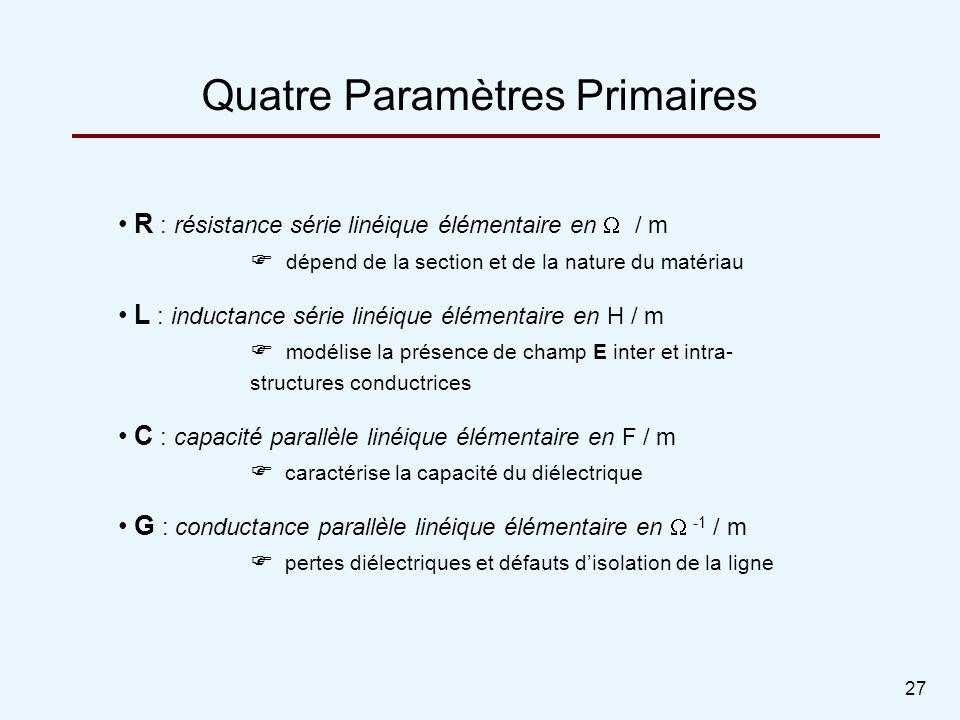 Quatre Paramètres Primaires