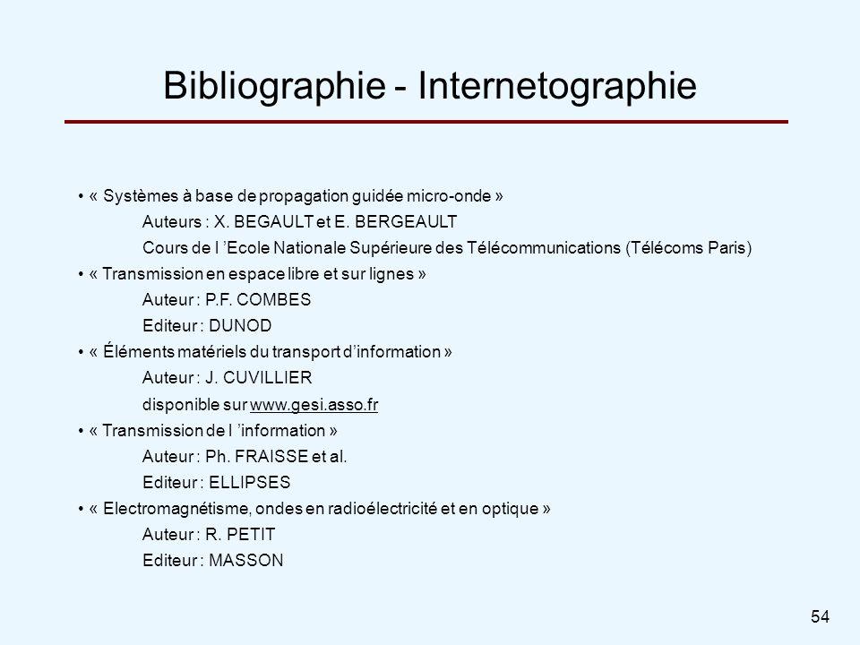 Bibliographie - Internetographie