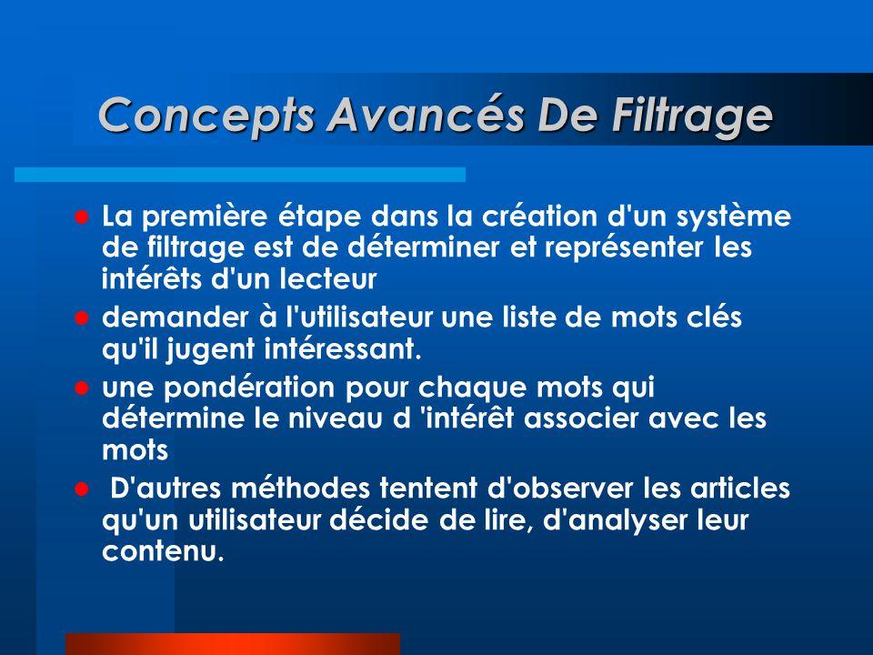 Concepts Avancés De Filtrage