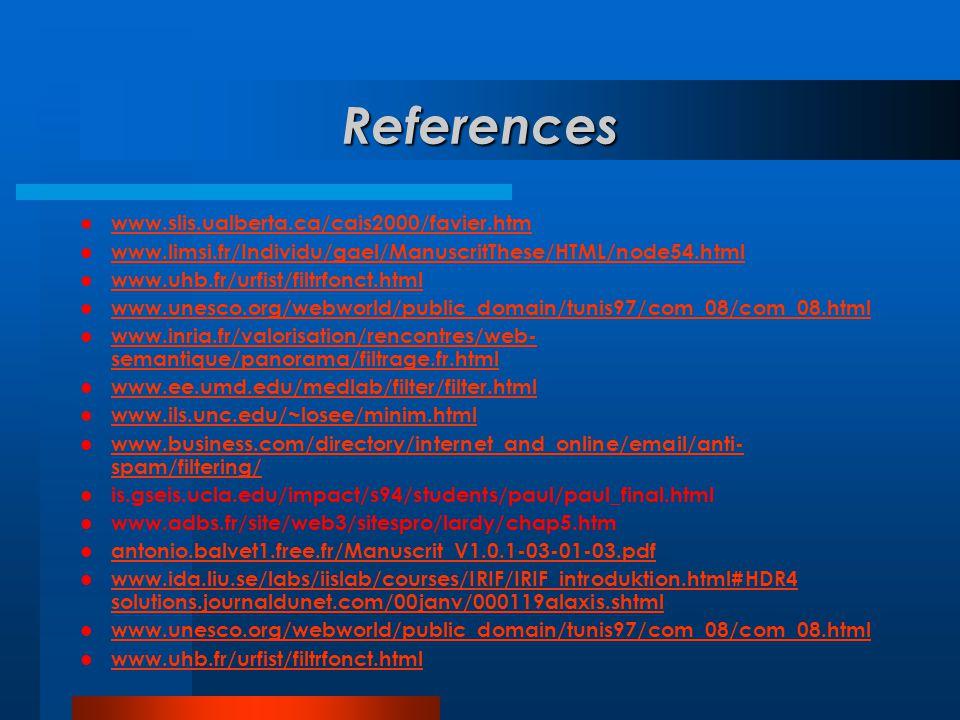 References www.slis.ualberta.ca/cais2000/favier.htm