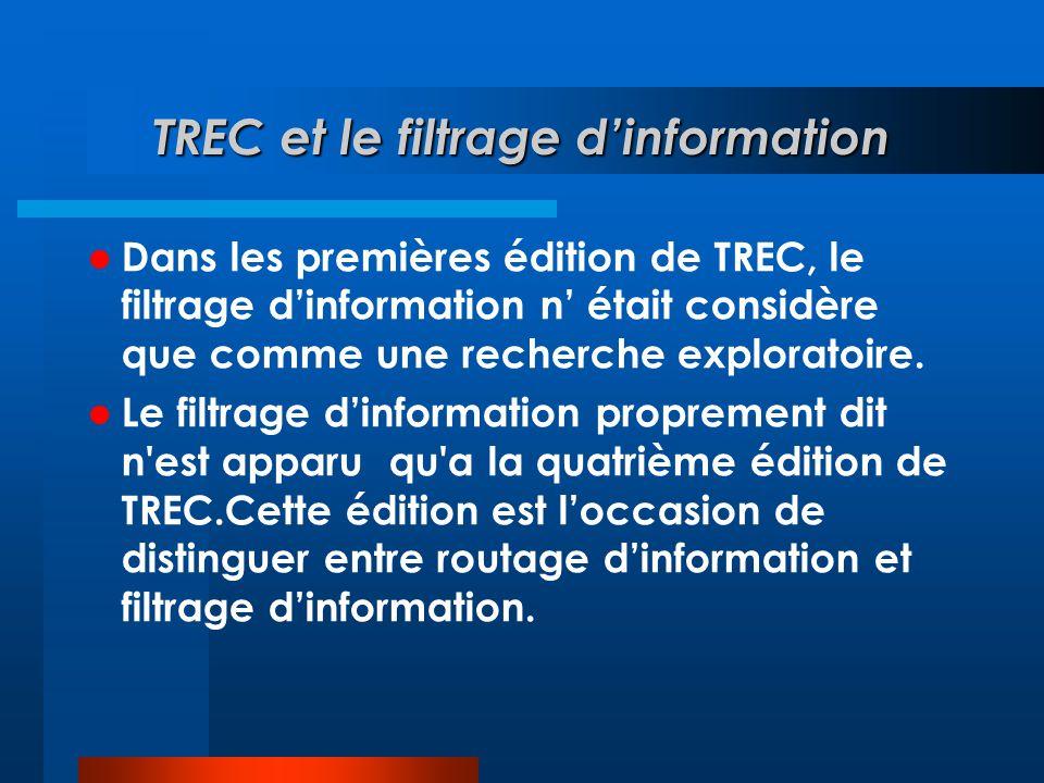 TREC et le filtrage d'information