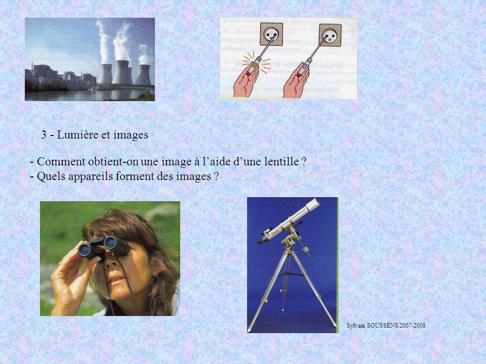 - Comment obtient-on une image à l'aide d'une lentille