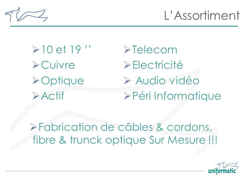 Fabrication de câbles & cordons, fibre & trunck optique Sur Mesure !!!