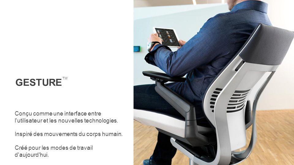 GESTURE TM. Conçu comme une interface entre l utilisateur et les nouvelles technologies. Inspiré des mouvements du corps humain.