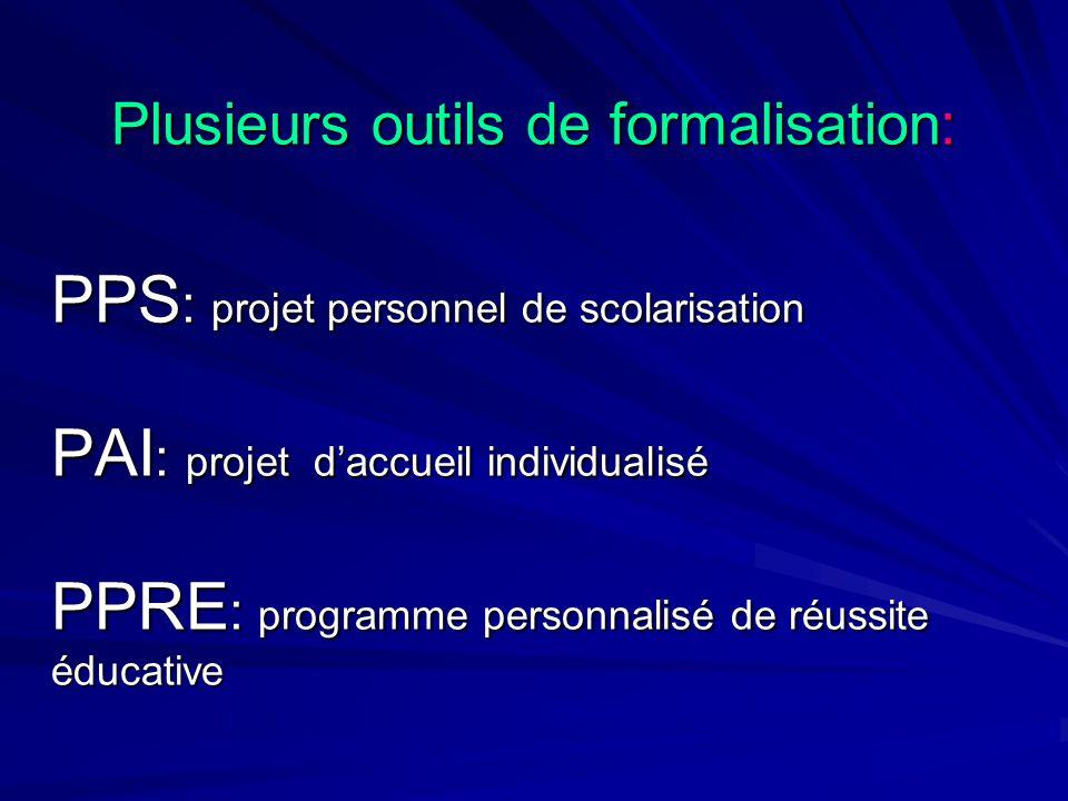 Plusieurs outils de formalisation: