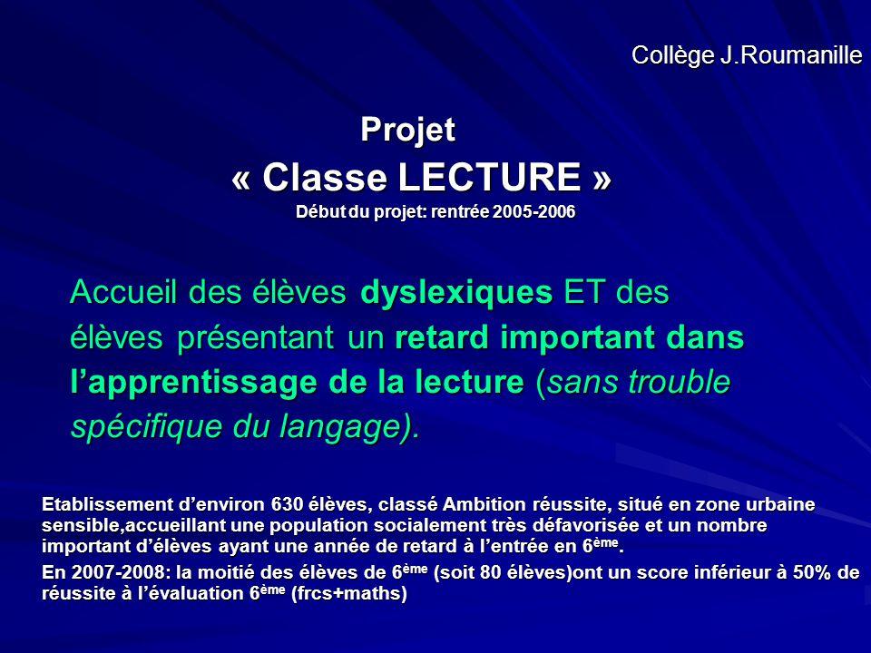 Début du projet: rentrée 2005-2006