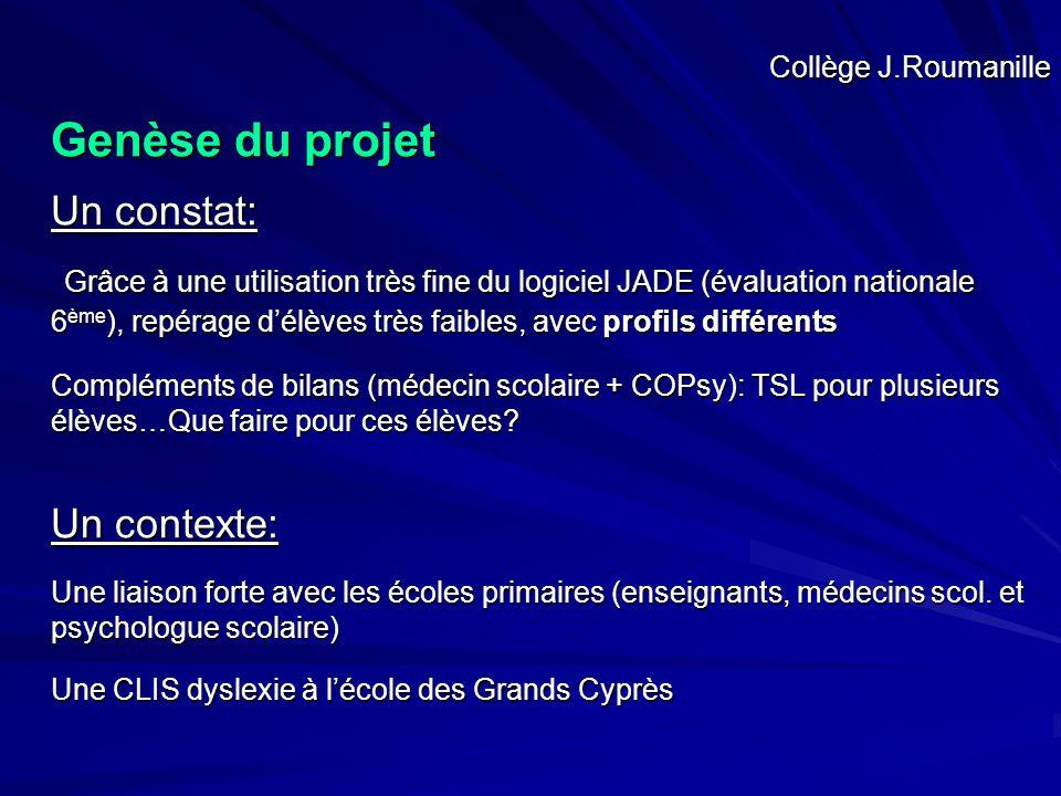 Genèse du projet Un constat: