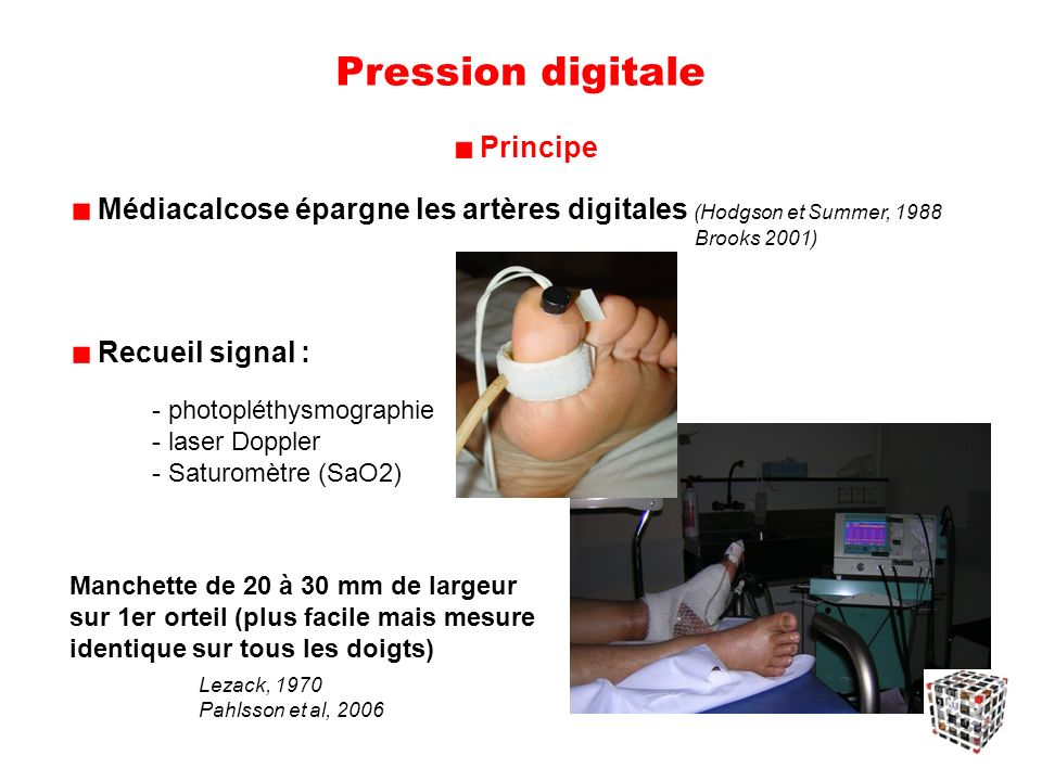 Pression digitale Principe