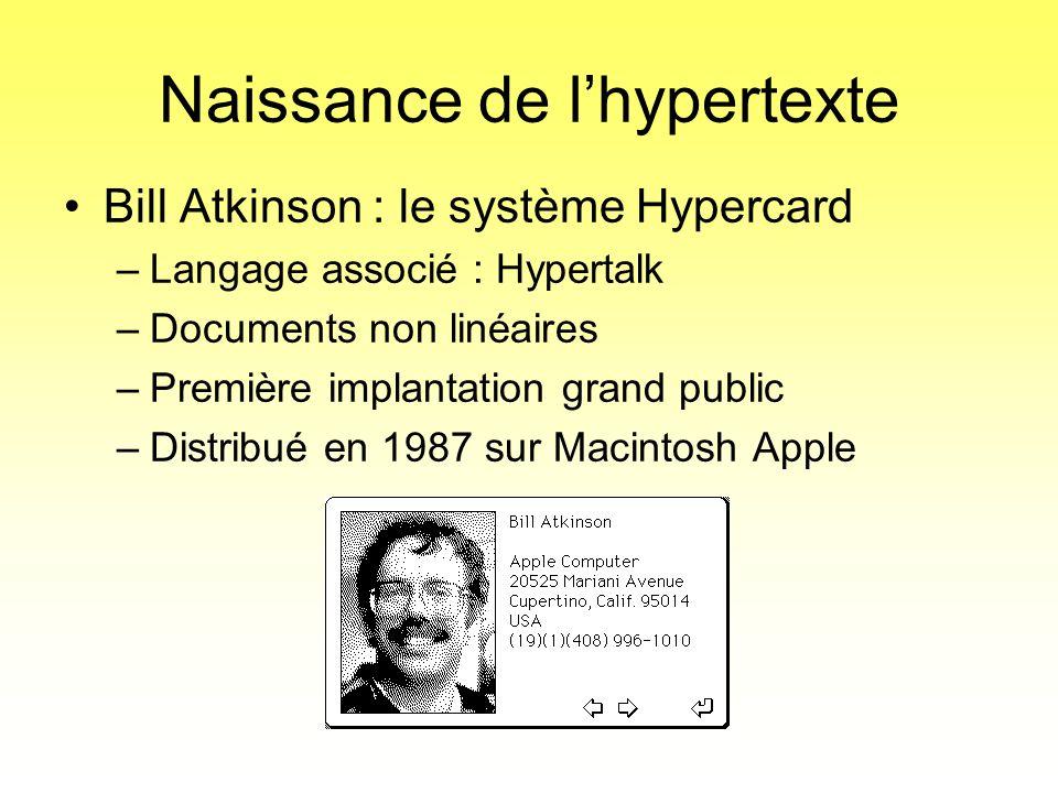 Naissance de l'hypertexte