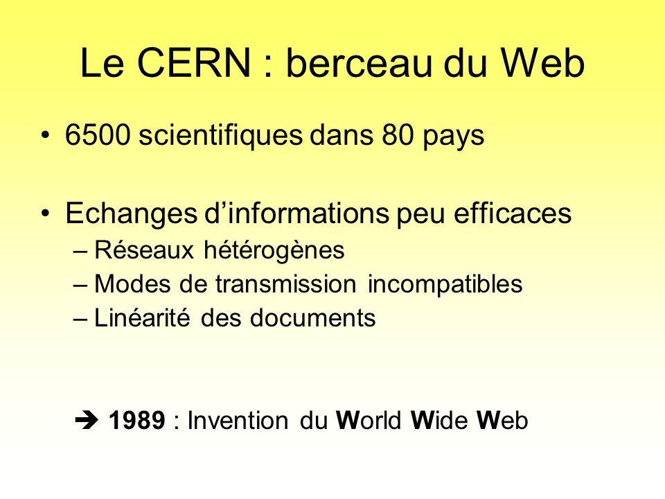 Le CERN : berceau du Web 6500 scientifiques dans 80 pays