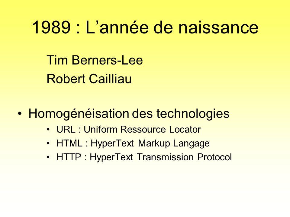 1989 : L'année de naissance Tim Berners-Lee Robert Cailliau