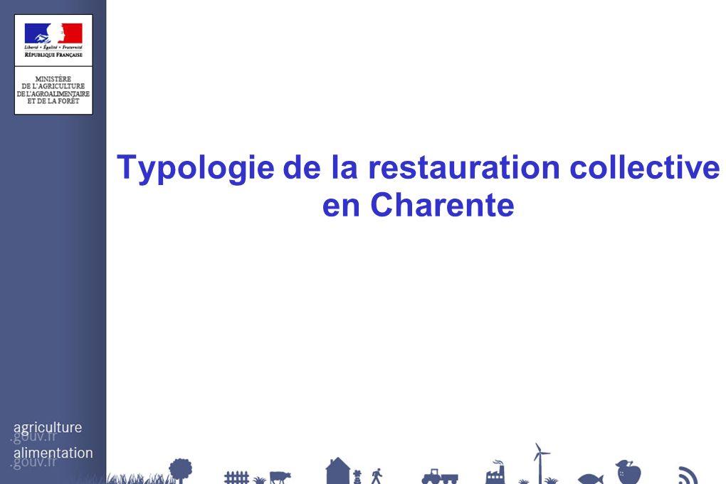 Typologie de la restauration collective en Charente