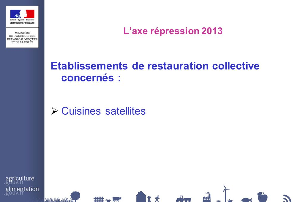 Etablissements de restauration collective concernés :