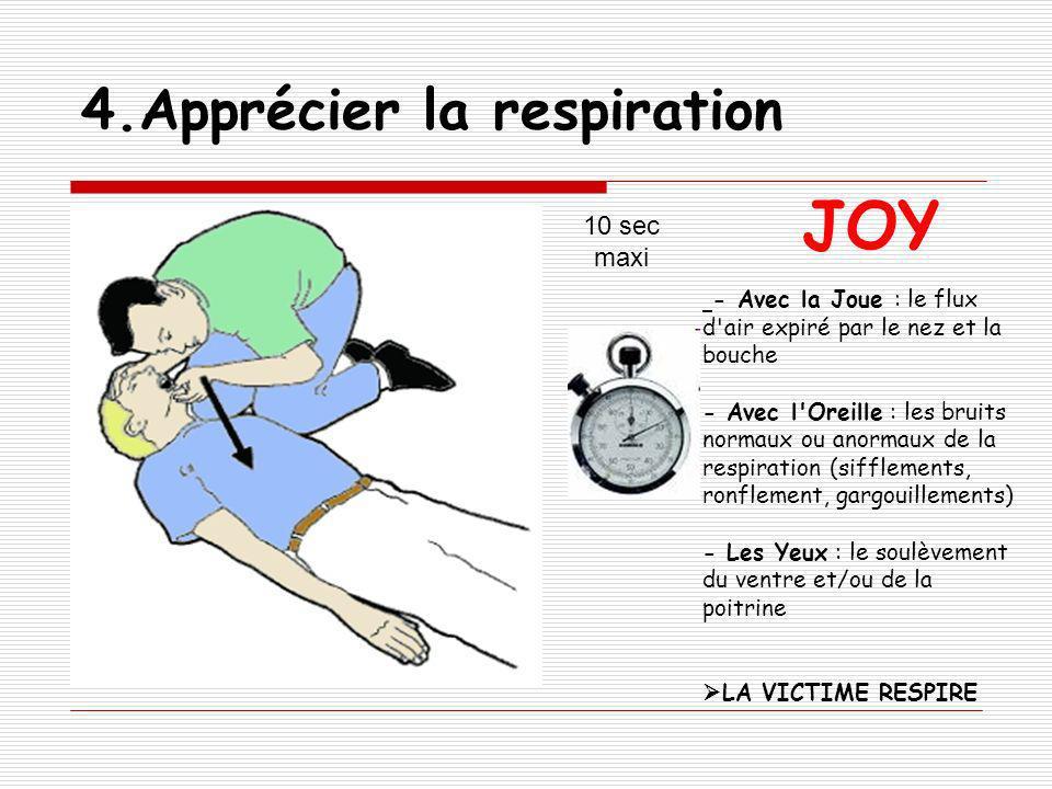 4.Apprécier la respiration