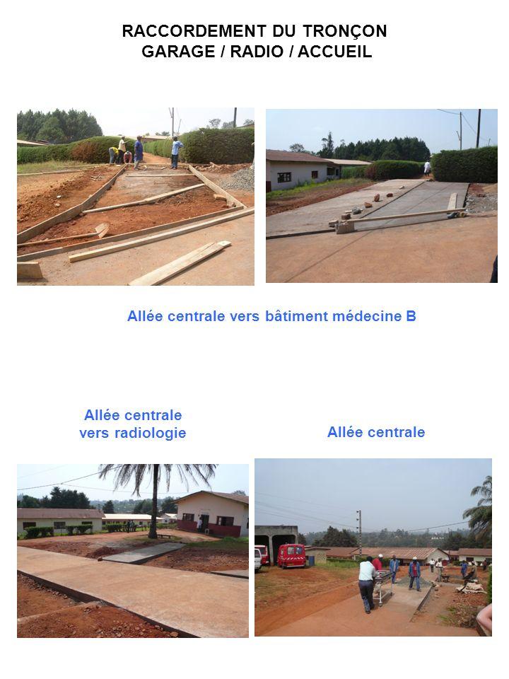 RACCORDEMENT DU TRONÇON GARAGE / RADIO / ACCUEIL