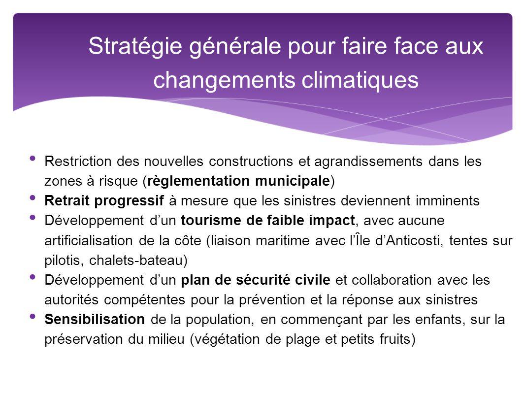 Stratégie générale pour faire face aux changements climatiques
