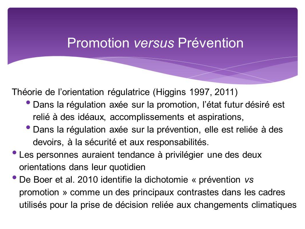 Promotion versus Prévention