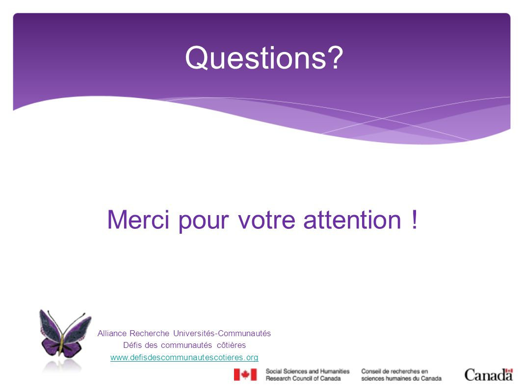 Questions Merci pour votre attention !
