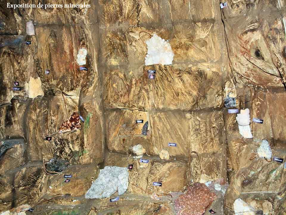 Exposition de pierres minérales