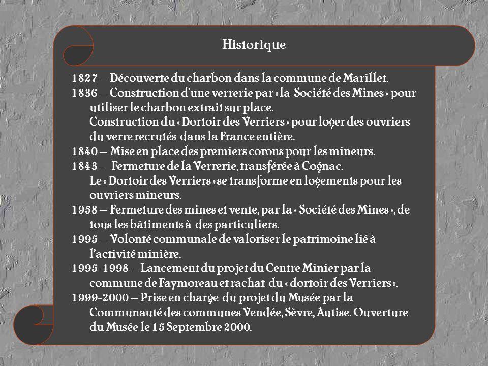Historique 1827 – Découverte du charbon dans la commune de Marillet.