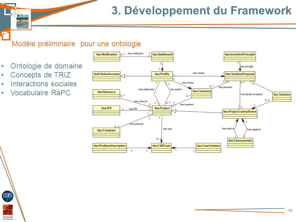 3. Développement du Framework
