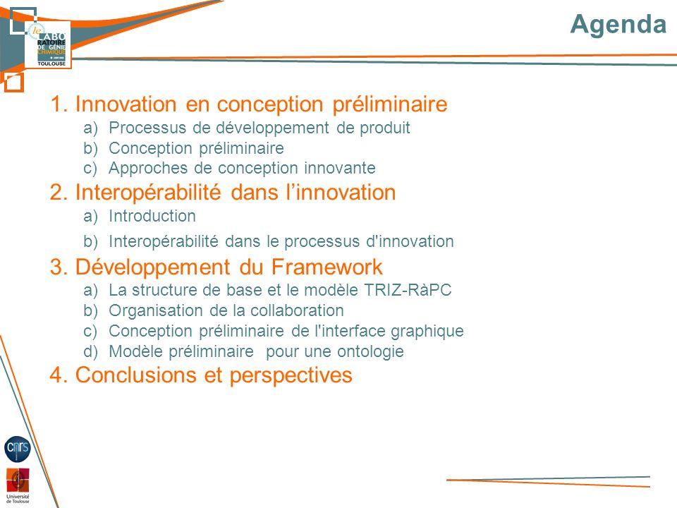 Agenda Innovation en conception préliminaire