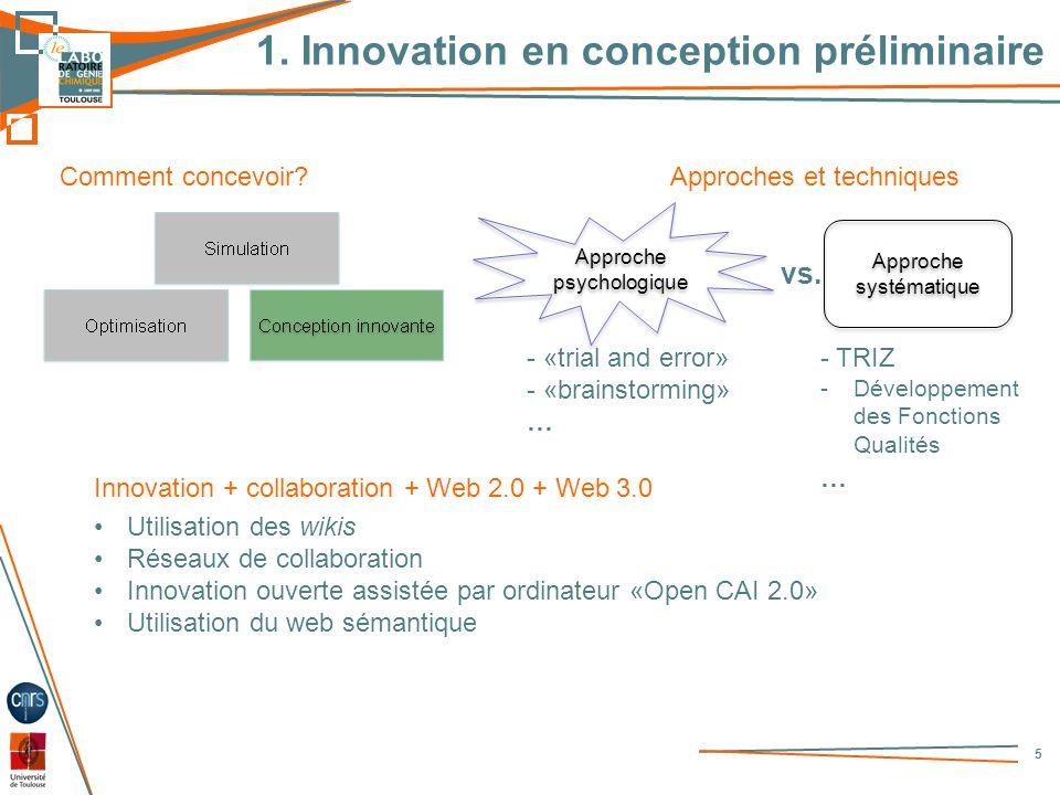 1. Innovation en conception préliminaire