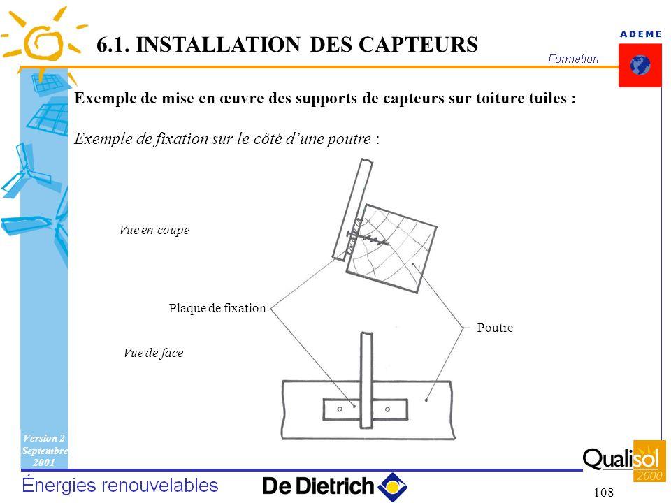 6.1. INSTALLATION DES CAPTEURS