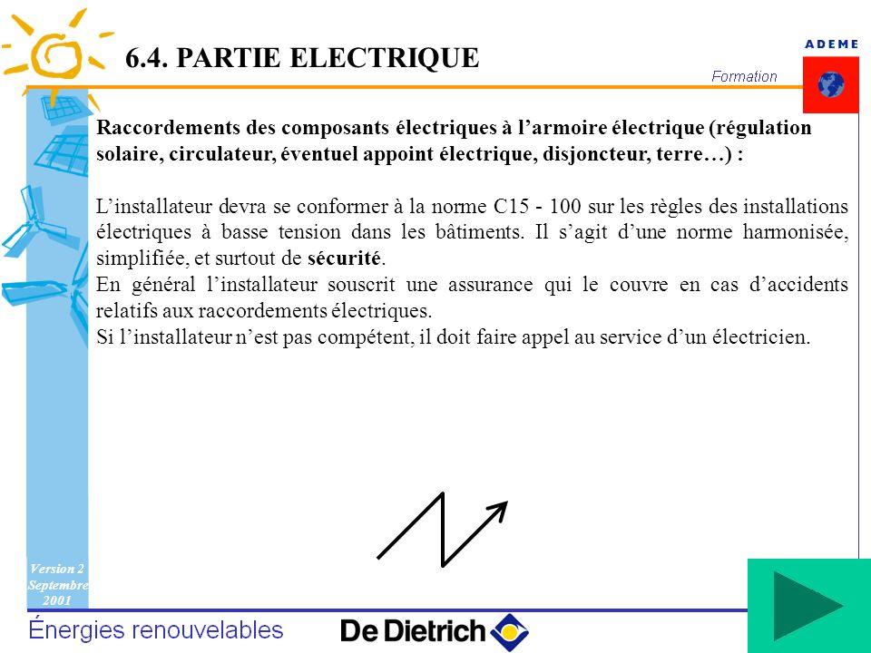 6.4. PARTIE ELECTRIQUE