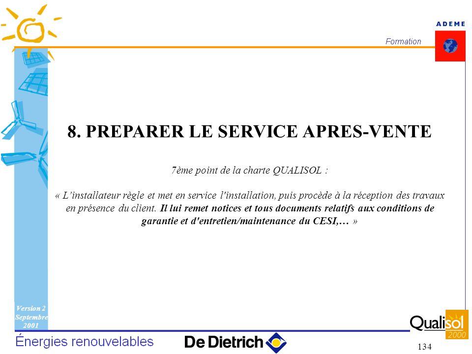 8. PREPARER LE SERVICE APRES-VENTE
