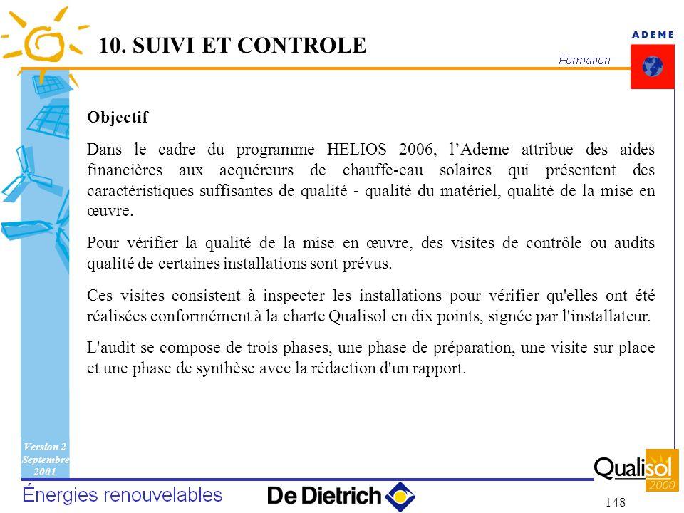10. SUIVI ET CONTROLE Objectif
