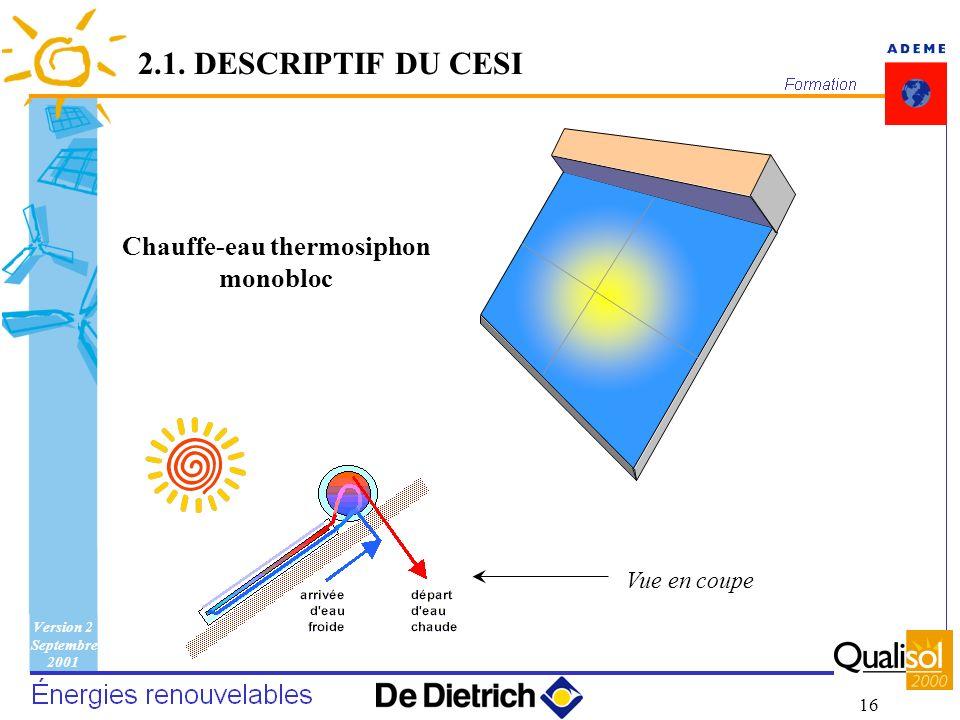 Chauffe-eau thermosiphon monobloc
