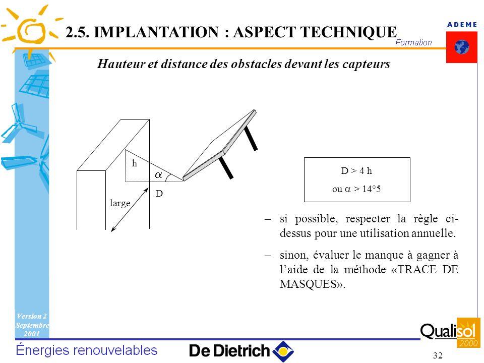 Hauteur et distance des obstacles devant les capteurs