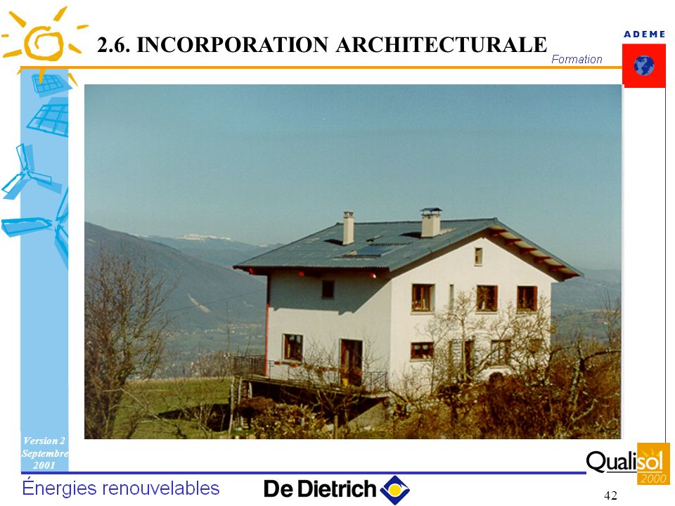 2.6. INCORPORATION ARCHITECTURALE