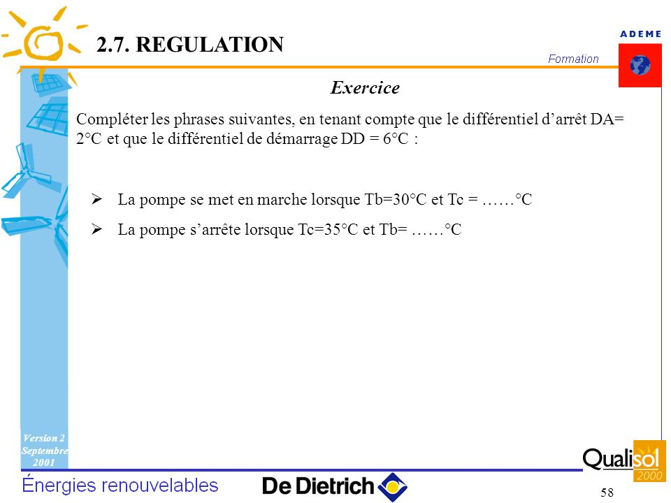 2.7. REGULATION Exercice.