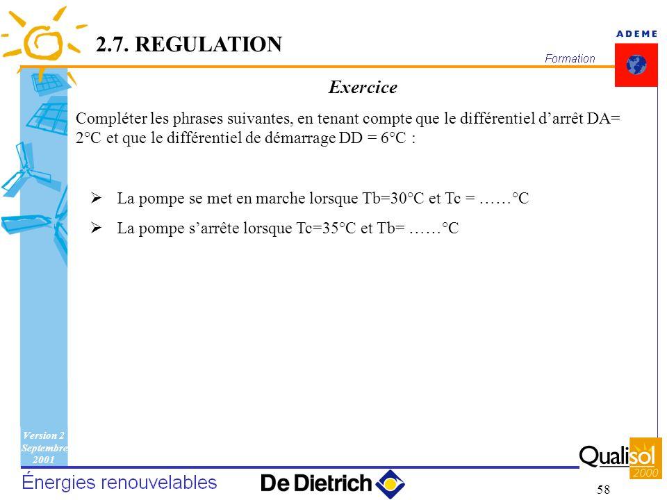 2.7. REGULATIONExercice.