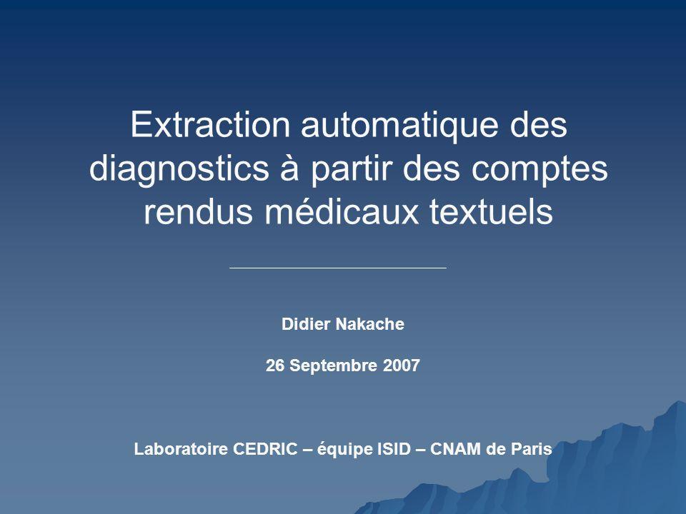 Laboratoire CEDRIC – équipe ISID – CNAM de Paris