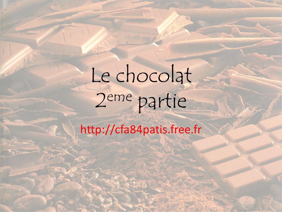 Le chocolat 2eme partie http://cfa84patis.free.fr