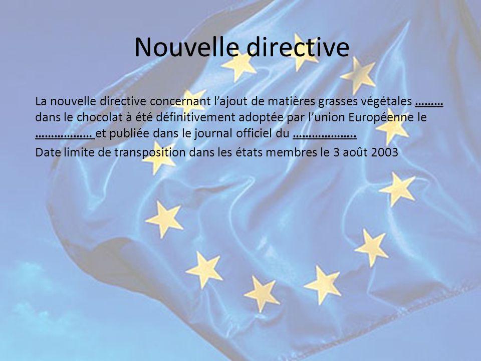 Nouvelle directive