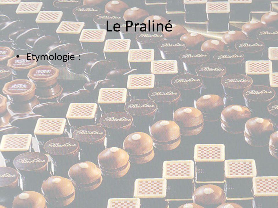 Le Praliné Etymologie :