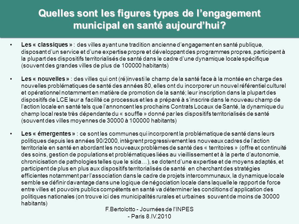 F.Bertolotto - Journées de l INPES - Paris 8.IV.2010