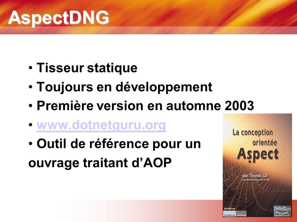 AspectDNG Tisseur statique Toujours en développement