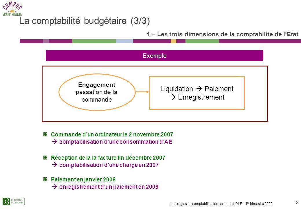 La comptabilité budgétaire (3/3)