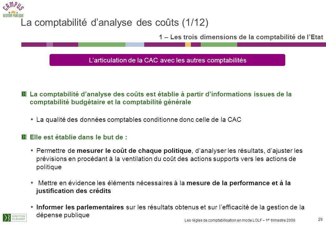 La comptabilité d'analyse des coûts (1/12)