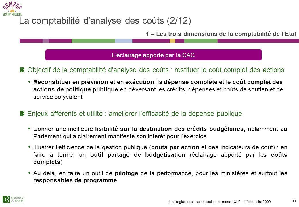 La comptabilité d'analyse des coûts (2/12)