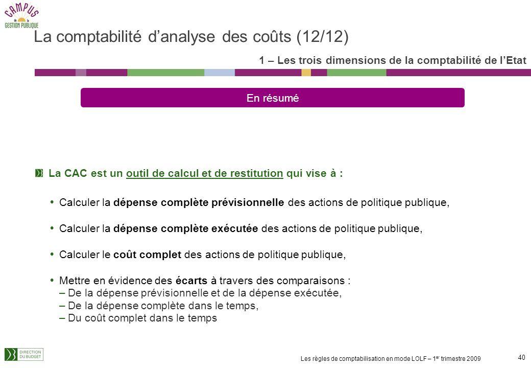La comptabilité d'analyse des coûts (12/12)